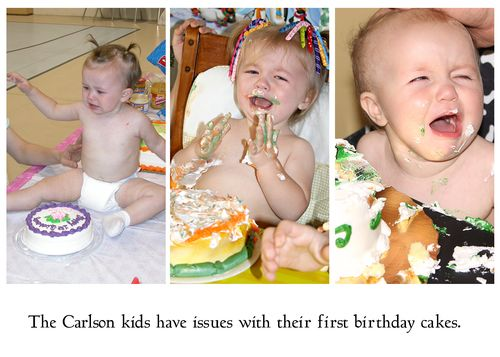 Carlson Kids dislike first cake
